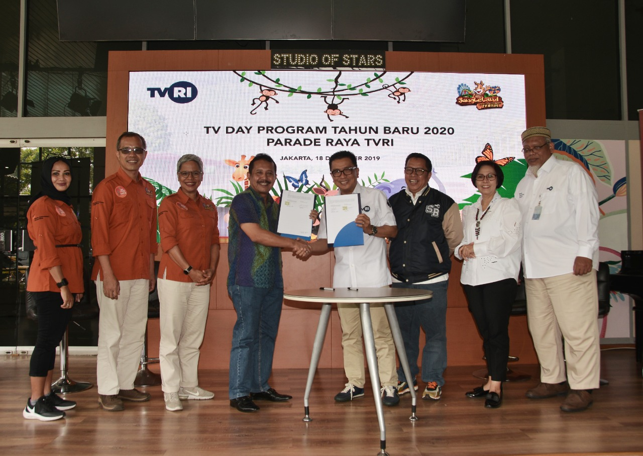 Sambut 2020, TVRI Kerjasma Dengan Jungleland  Menyuguhkan Program Acara Berkualitas